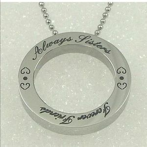 """""""Always Sisters Forever Friends"""" Necklace SS"""
